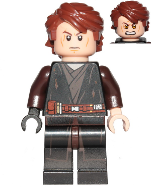 Lego New Pearl Dark Gray Hips Legs with Star Wars Robe Dirt Stains Black Piece